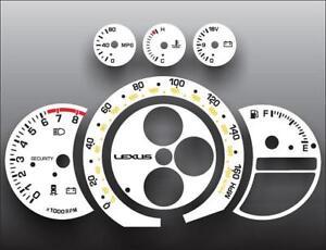 2002-2005 Lexus IS300 160 Mph Dash Instrument Cluster White Face Gauge