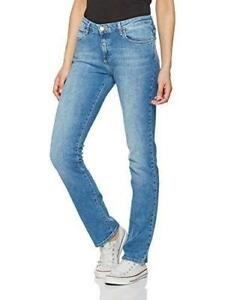 64a9de92b9524 La foto se está cargando Para-mujer-Wrangler-pierna-recta-Jeans-Stretch -mejor-