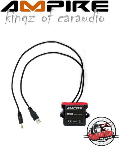 Ampire BTR300 A2DP Bluetooth Adapter 4.0 Audio Klinkenstecker USB 12V Universal