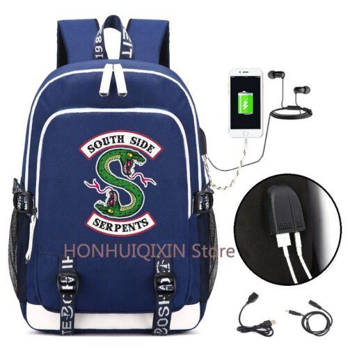 Riverdale USB Rucksack Schultasche Laptoptasche South Side serpents Geschenk