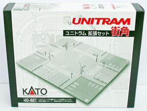 Kato-40-821-UNITRAM-Expansion-Set-Street-Corner-N-scale