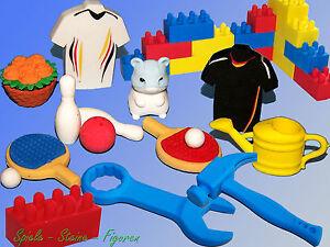 Radiergummi zum Sammeln, Fußball, Bowling, Tischtennis, Gießkanne, Blumenkorb...