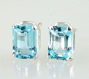 Blue-Topaz-Emerald-cut-Stud-Earrings-925-SS-Sterling-Silver-2-40CT