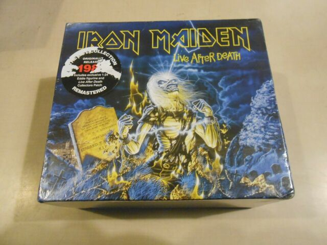 Iron Maiden Live After Death w/ Eddie Figurine Collector Patch and CD NEW/SEALED