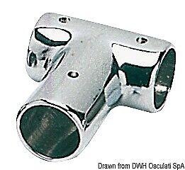 2 pezzi Osculati Giunto pulpito T 90° 22 mm basi e raccordi pulpit