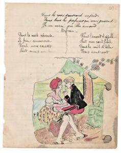 1906-military-soldier-manuscript-lyricsLA-SAVOYARDE-sexy-drawing