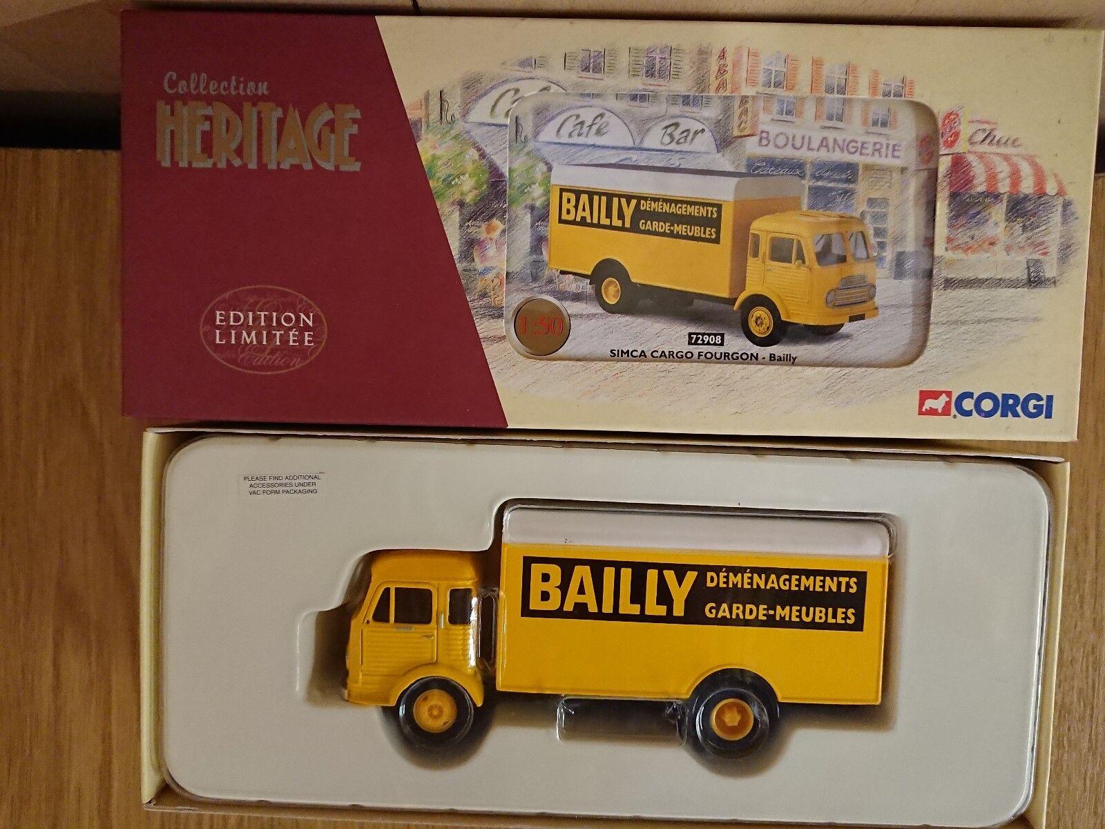 Corgi 72908 Simca Cargo Fourgon BAILLY Ltd Edition No. 0881 of ONLY 1048