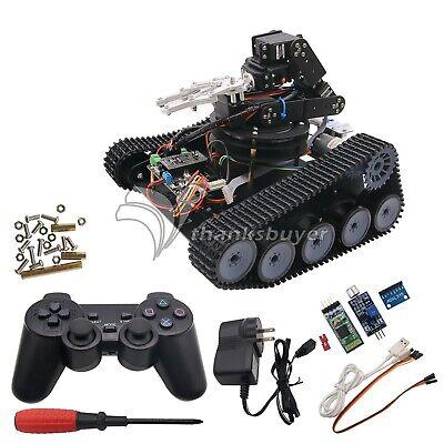 Assembled Robot Tank Car Open Source 6DOF Mechanical Arm With PS2//APP Control #A