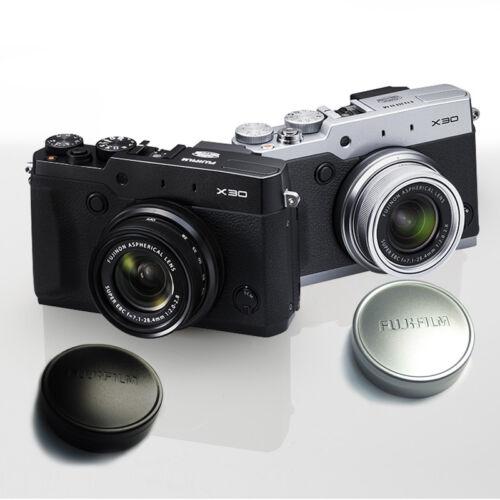 Original FUJI Fujifilm FinePix X10 Camera Metal Front Lens Cap Cover SILVER