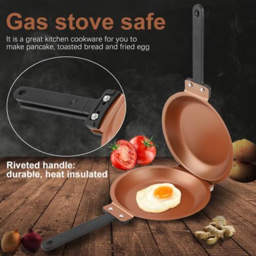 Double Side Non-stick Flip Frying Pan Fried Egg Omelette Pancake Maker Cookware