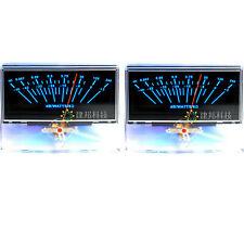 2x P 97 Vu Meter Audio Volume Unit Indicator Peak Amp Db Table Panel Level Meter