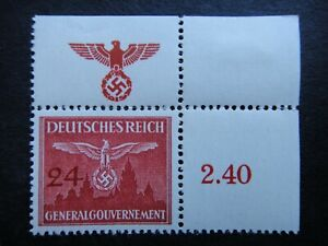 Germany Nazi 1943 Stamps MNH / MH Swastika Eagle Generalgouvernement WWII Third