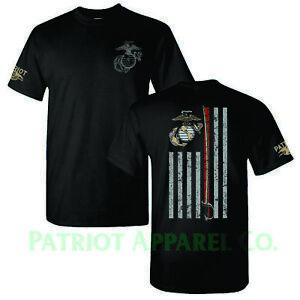 United-States-Marine-Corps-USMC-Military-Veteran-Soldier-USA-Support-T-Shirt-Tee
