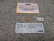 Oddballs decals HO Missouri Pacific UP 50' 2 bay airslide ptd lt grey  N146