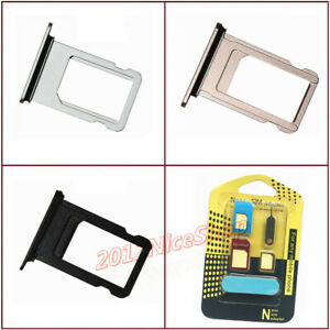 Lot-OEM-Nano-Sim-Card-SD-Card-Tray-Slot-Holder-For-Phone-8-8-Plus-Adapter