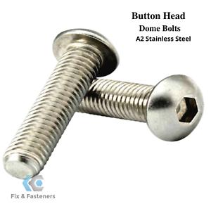 A2 STAINLESS STEEL M6 SOCKET BUTTON HEAD SCREWS HEX ALLEN KEY BOLTS