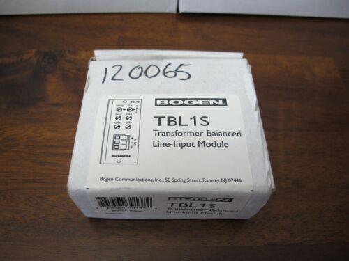 New Bogen TBL1S Transformer Balanced Line-Input Module
