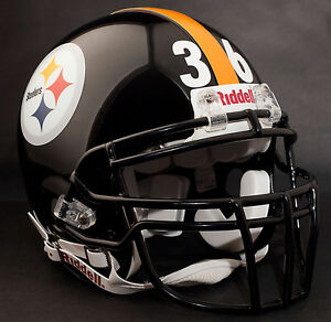 JEROME-BETTIS-PITTSBURGH-STEELERS-Schutt-ROPO-DW-Football-Helmet-FACEMASK-BLACK