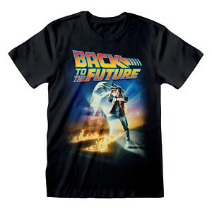Back To The Future Poster T Shirt OFFICIAL Marty McFly Doc Brown Movie DeLorean