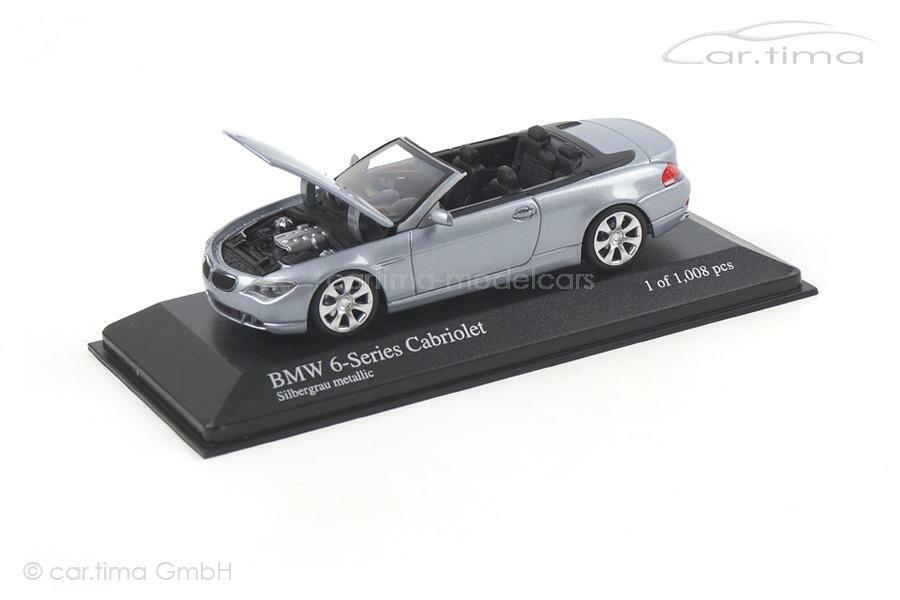 grandes precios de descuento gris de Plata descapotable serie 6 6 6 de BMW se reunieron. -Minichamps 1 43 431026031  elige tu favorito