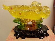 "Chinese Feng Shui Lucky Arowana Carp Koi Fish 7""L X 5""H"