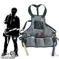 Electrician Tool Apron Carpenter Pouch 16 Pocket Belt Construction Work Bag Vest