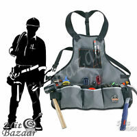 Electrician Tool Apron Carpenter Pouch 16 Pocket Belt Construction Work Bag Vest