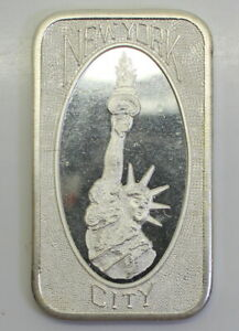 NEW-YORK-CITY-MOTHER-LODE-MINT-ONE-OUNCE-TROY-999-FINE-SILVER-BAR-MLM-15V1