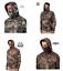 thumbnail 1 - Men's Fleece Camo Performance Pullover Hoodie / Gaiter Mossy Oak / Realtree