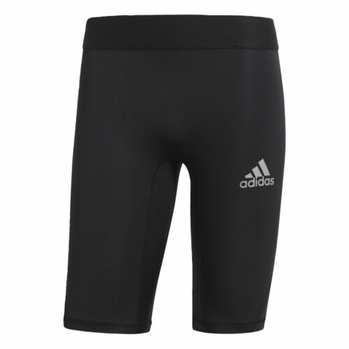 Adidas Kids Alphaskin Sports Football Soccer Short Tights Base Layer Black