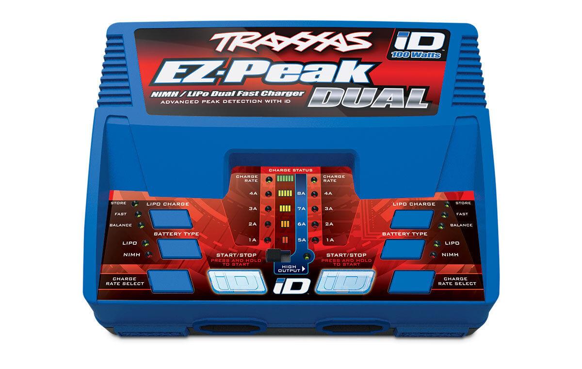 Traxxas ez-peak plus de 100 vatios 8-amp Lipo NiMH batería Doble Cargador tra2972