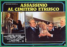 T38 FOTOBUSTA ASSASSINIO AL CIMITERO ETRUSCO SERGIO MARTINO ELVIRE AUDRAY 1