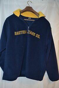 Mens Nautica Jeans Co.blue/yellow Fleece Pullover Spellout Mens XL ...