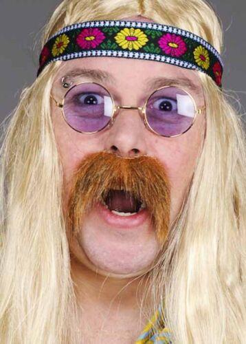 1970s Blonde Hippy Fake Moustache