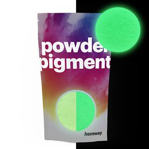 Hemway brilla en la oscuridad polvo 100g color luminoso fosforescente pigmento