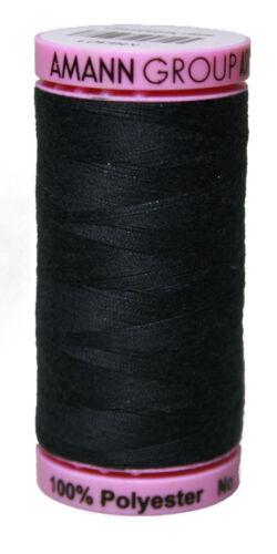 Anotado 100/% poliéster ASPO pes 120 Amann negro 500 M 1284