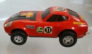 Rare-Vintage-Datsun-240Z-Africa-Rally-11-Friction-Tin-Toy-Japan-Nissan