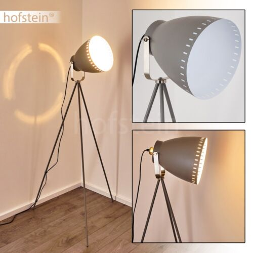 Retro Design Wohn Schlaf Raum Leuchten verstellbar Steh Boden Stand Lampen grau