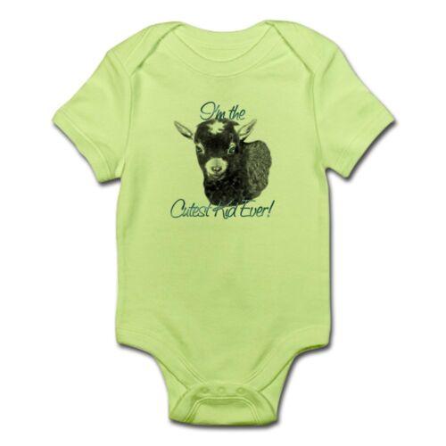 CafePress Goat Cutest Kid Ever Infant Bodysuit Baby Bodysuit 81703980