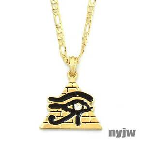 Egyptian pyramid symbol third eye of horus pendant 5mm 24 figaro image is loading egyptian pyramid symbol third eye of horus pendant mozeypictures Image collections
