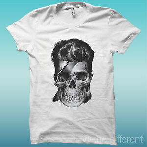 T-SHIRT-034-TESCHIO-SKULL-DAVID-BOWIE-034-BIANCO-THE-HAPPINESS-IS-HAVE-MY-T-SHIRT-NEW