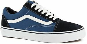 bcc3c740e894 Vans Classic Old Skool Navy Blue White Mens Womens Shoes All Sizes ...
