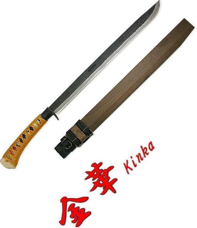Kanetsune Kinka 17.71  Blade blanc Steel Core Blade Oak Handle W  Sheath KB-154