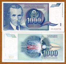 Yugoslavia, 1000 Dinara, 1991, Pick 110, ZA UNC > Replacement