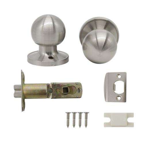 Satin Nickel Door Knob Handle Interior Keyed Entry Privacy Passage Dummy Lockset