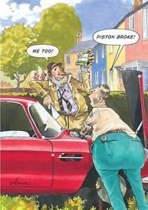 Happy-Birthday-Humour-Card-034-Piston-Broke-Design-034-Size-8-25-034-x-5-75-034-RB3-0996