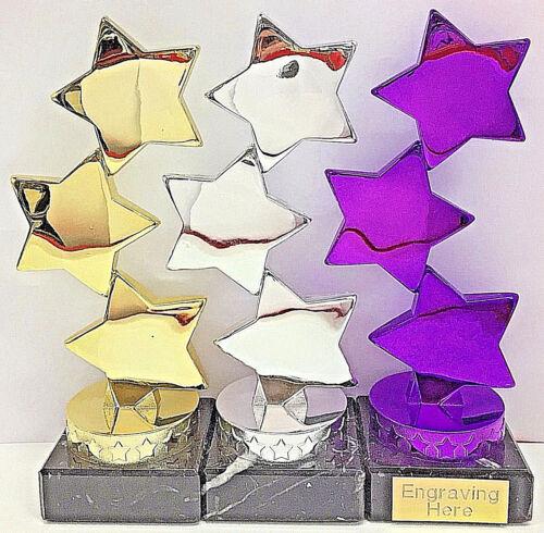 gravure gratuite Dance star trophée violet//argent//or