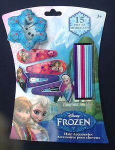 8-Count Disney Girls Frozen 2 Hair Ponies Ties Snowflakes Anna Elsa Olaf