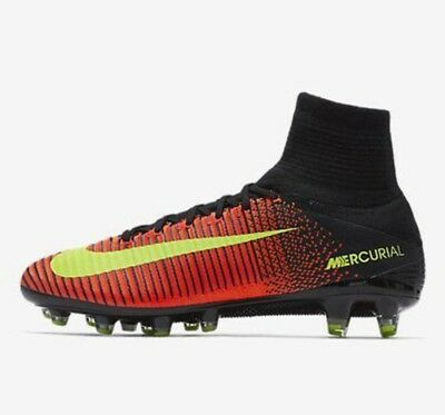 Nike MERCURIAL SUPERFLY AG V Pro UK 8 EUR 42.5 CRIMSON NERO ACC 831955 870 | eBay