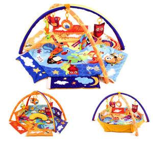 Krabbeldecke-Spieldecke-Spielbogen-Erlebnisdecke-Spielmatte-Babydecke-Laufstall
